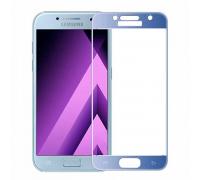 Защитное стекло 2,5D Samsung A320/A3 2017, blue