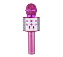 Микрофон BT, с колонкой, HANDHELD KTV WS-858, pink