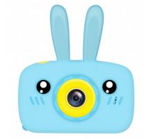 Фотоаппарат детский с силиконовым чехлом зайчик, blue