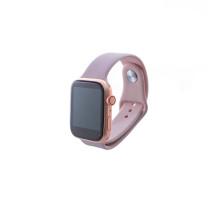 Часы Smart Watch 5, силиконовые, розовые