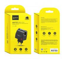 Сетевой адаптер на автомобильный прикуриватель Dream DRM-AP01-01 220V-12V 1A черный  (MR)