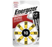 Батарейки Energizer ZA10, для слуховых аппаратов, 1,4V, BL8, 8 шт в блистере
