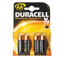 Батарейки Duracell LR06 AA BL4, 4 шт в блистере