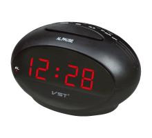 Часы настольные VST711-1, 220В, красные.цифры