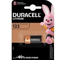 Батарейки Duracell CR123 DL123 А Ultra, BL1, 1 шт в блистере