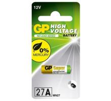 Батарейки GP 27A, 12V, BL1, 1 шт в блистере
