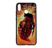 Чехол - накладка 'пластиковый лаковый с рисунком - Граната' для Galaxy A105 A10 (2019) (цвет оранжев