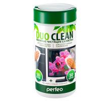 "Салфетки чистящие Perfeo ""Duo Clean"", 50 для пластика и 50 для экранов, в тубе"