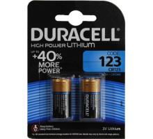 Батарейки Duracell CR123 DL123 А Ultra, BL2, 2 шт в блистере