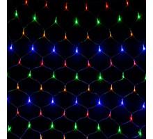 Гирлянда 160L сетка 1.5x1.5м цветная
