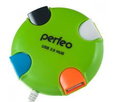 USB-Хаб Perfeo 4 Port, (PF-VI-H020) зеленый
