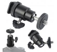 Кронштейн камеры поворотный (шаровой, металлический) черный (MR)