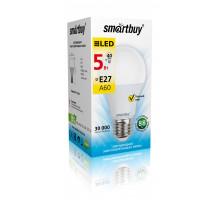 Светодиодная (LED) Лампа Smartbuy-A60-05W/3000/E27 (SBL-A60-05-30K-E27-A)