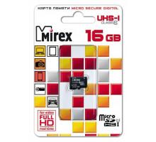 Карта памяти Mirex microSDHC 16 Gb class 10, UHS-I