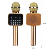 Микрофон BT, с колонкой, HANDHELD KTV K-316, gold
