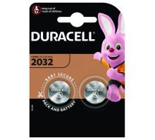 Батарейки Duracell CR2032, BL2, 2 шт в блистере