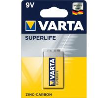 Батарейки Varta 6F22 1604G Крона, 2022 SuperLife BL1,1 шт в блистере
