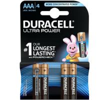 Батарейки Duracell LR03 AAA UltraPower BL4, 4 шт в блистере