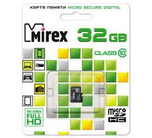 Карта памяти Mirex microSDHC 32 Gb class 10
