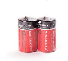 Батарейки Minamoto R20 2SR, 2 шт в термопленке
