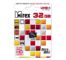 Карта памяти Mirex microSDHC 32 Gb class 10, UHS-I