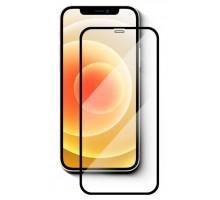 Защитное стекло 3D iPhone 12 mini, чёрное, A, в тех.упаковке