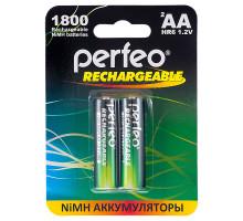 Аккумулятор Perfeo R06 AA 1800mAh, BL2, 2 шт в блистере