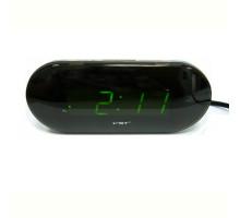 Часы настольные VST715-2  зеленые цифры+блок