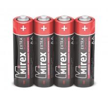 Батарейки Mirex R06 AA, SR4, 4 шт в термопленке (60 шт/уп)