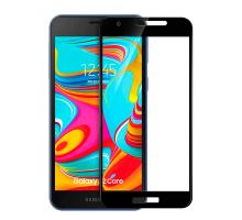 Защитное стекло 3D Samsung A2 core, black, в тех.упаковке