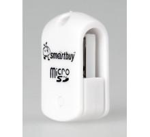 Картридер Smartbuy microSD белый (SBR-706-W)