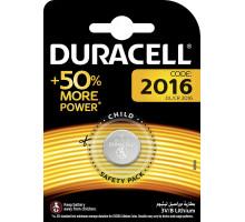 Батарейки Duracell CR2016, BL1, 1 шт в блистере