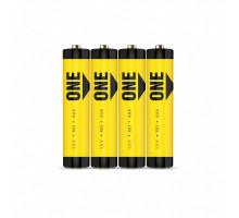 Батарейки Smartbuy ONE R03 AAA 4SR, 4 шт в термопленке, 60 шт/уп, (SOBZ-3A04S-Eco)