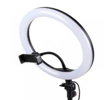 Селфи лампа кольцо, без штатива, 32 см, usb, black