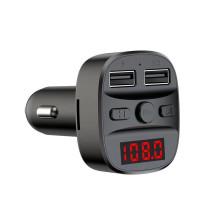 FM модулятор Earldom ET-M47, чёрный, Bluetooth, 2 USB, пластик, дисплей, TF