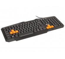 Клавиатура Ritmix RKB-152, USB, черная