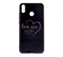 Чехол - накладка 'пластиковый лаковый с рисунком - I love you mom' для Galaxy A105 A10 (2019) (цвет