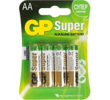 Батарейки GP LR06 AA Super Alkaline 15A-2UE4, BL4, 4 шт в блистере