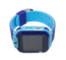 Часы детские Q12, с GPS трекером, сине-голубые