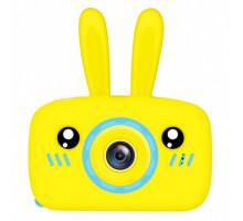 Фотоаппарат детский с силиконовым чехлом зайчик, blue+yellow
