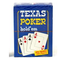 Карты игральные пластиковые Poker(P-016 Texas Hold'em)(54листа)(str)
