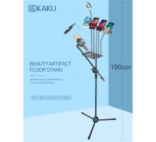 Стенд для караоке трипод KAKU KSC-352, 4 держателя для смартфона, селфи лампа