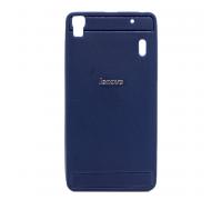 Чехол-накладка Lenovo A7000, кожзам, blue