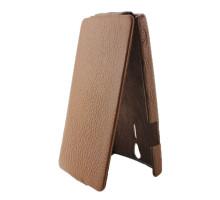 Чехол-книжка вниз Sony Xperia S, кожа, brown