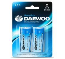 Батарейки Daewoo R14, BL2, 2 шт в блистере