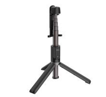 Селфи палка-монопод, Hoco K11, +пульт Д/У, BT, 68см, черный