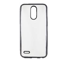 Чехол-накладка LG K10 2017, силиконовый с черной окантовкой