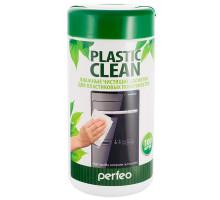 """Салфетки чистящие Perfeo """"Plastic Clean""""  для пластиковых поверхностей, в тубе, 100шт."""