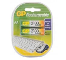 Аккумулятор GP R06 AA 2100mAh Ni-Mh, BL2, 2 шт в блистере Пластик