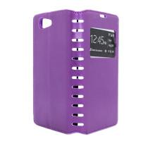Чехол-книжка Sony Z3 mini, purple, NEW CASE